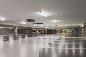 parkeergarage ventilator aan plafond