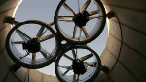 RWA ventilatoren Kustwerk Katwijk hangend in schacht