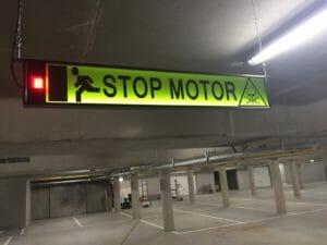 """Tekstbord """"Stop Motor"""" ExcelAir"""