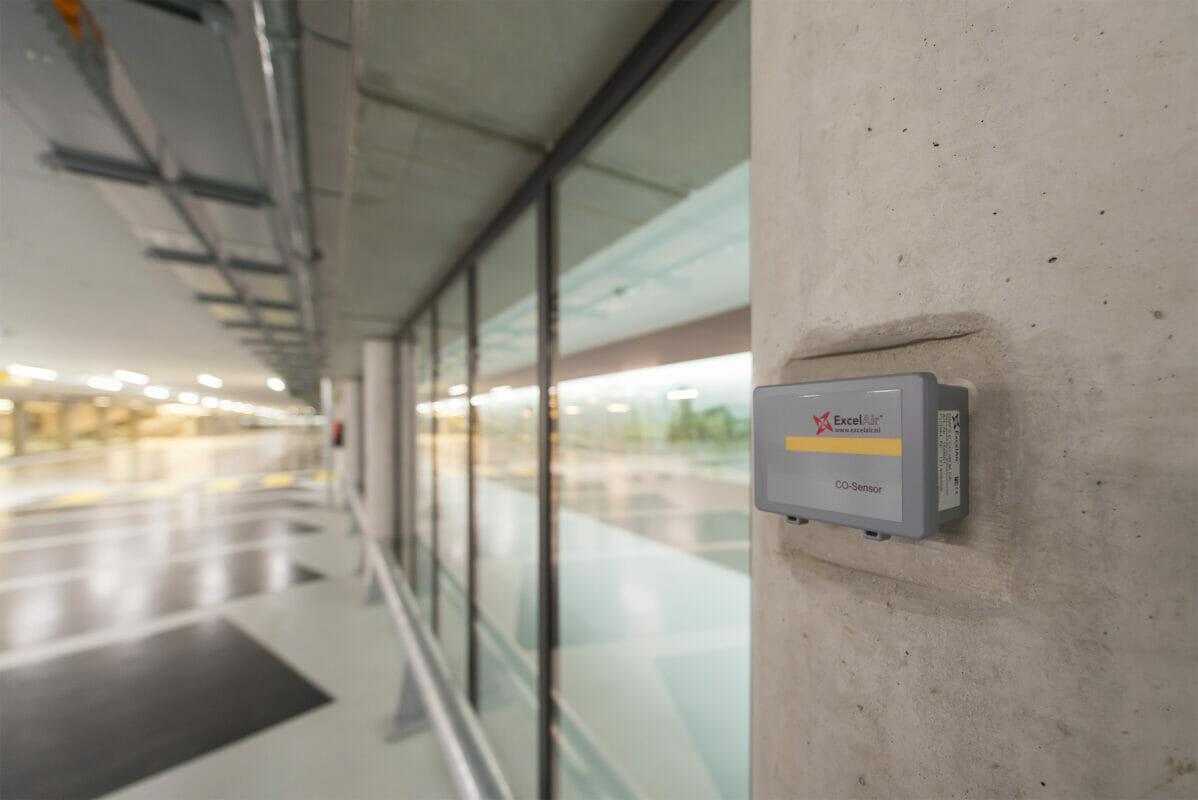 CO sensor ExcelAir op kolom