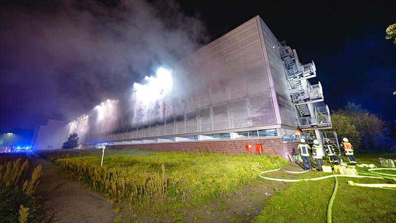 Autobrand Kanaalschiereiland in Alkmaar